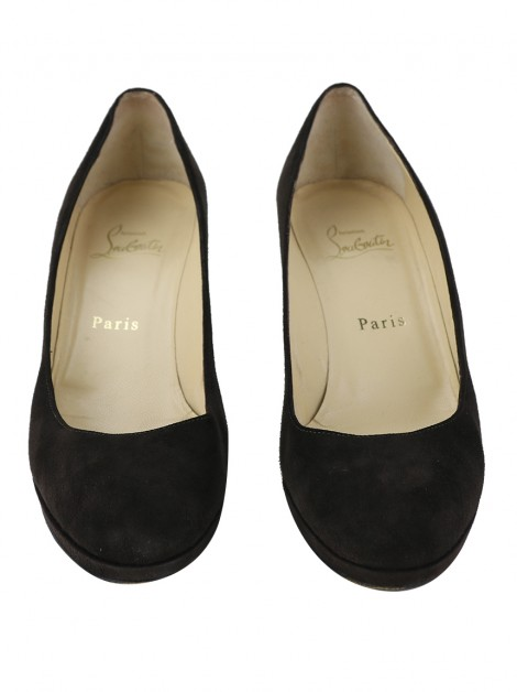 Sapato Christian Louboutin New Simple Pump Suede Marrom