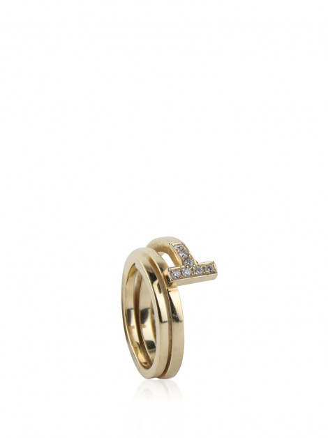 Anel Tiffany & Co T Square Wrap Dourado
