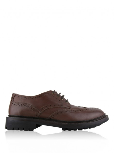 Oxford Barbour Couro Marrom