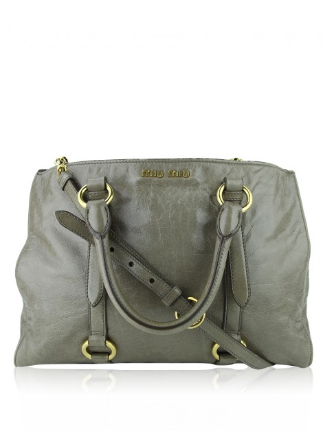Bolsa Miu Miu Vitello Shine Giunco