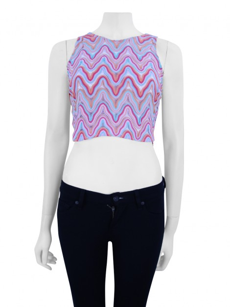 Blusa Thelure Renda Colorida