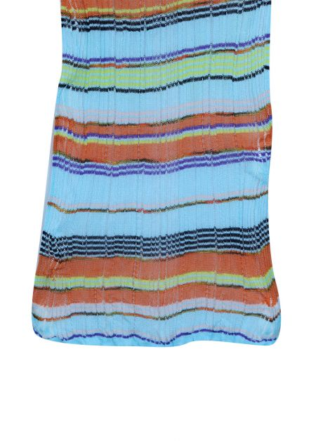 Echarpe Missoni Crochê Estampado