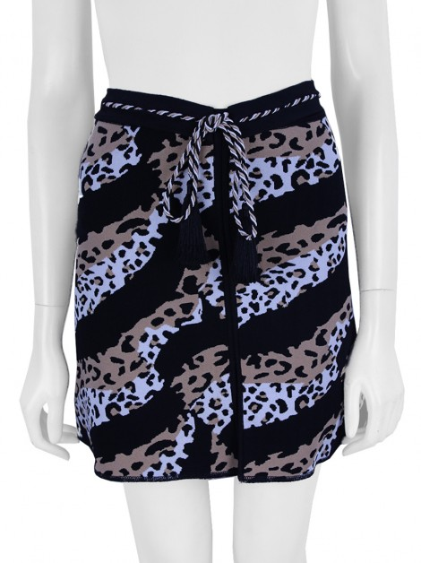 Shorts Saia Lolitta Animal Print Evasê