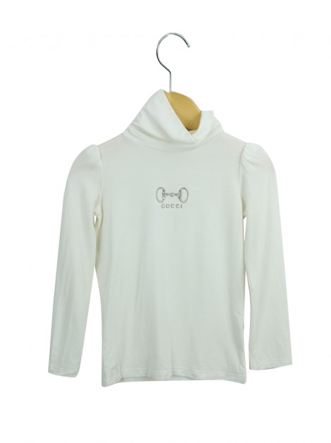 Blusa Gucci Horsebit Off White Infantil