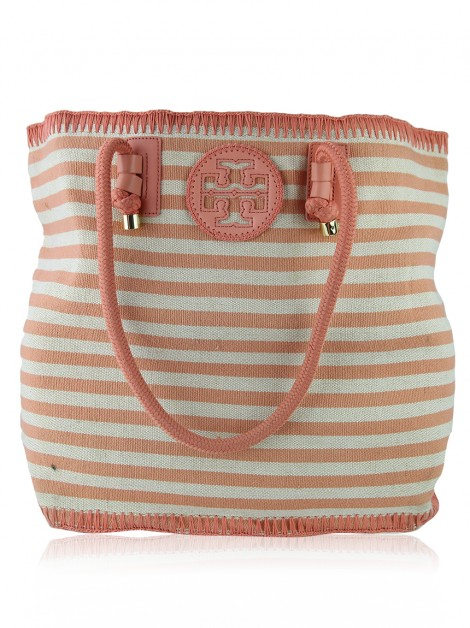 Bolsa Tory Burch Canvas Listrada