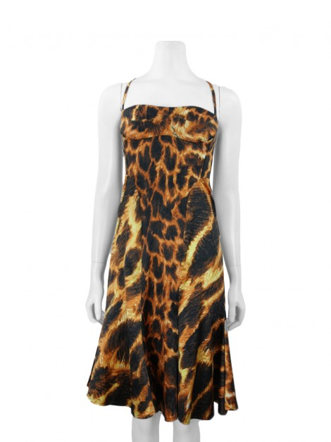 Vestido Just Cavalli Estampado Animal Print