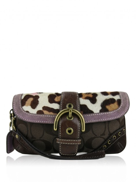 Clutch Coach Wristlet Animal Print
