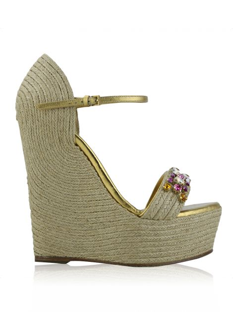 Espadrille Gucci New Carolina Jeweled