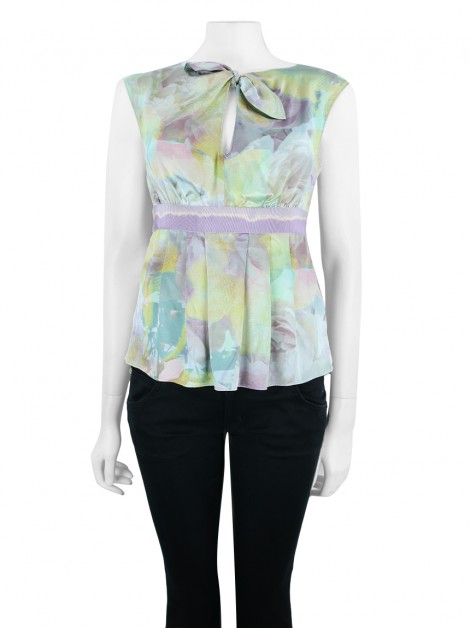 Blusa Moschino Seda Colorida