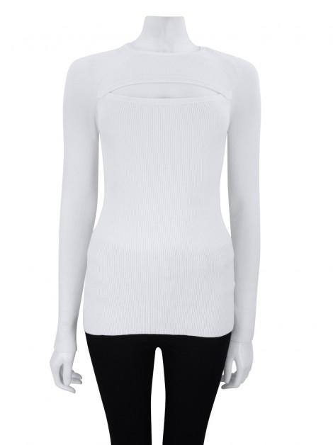 Blusa Intermix Tricot Off White - MMM