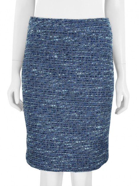 Saia Mixed Tweed Azul
