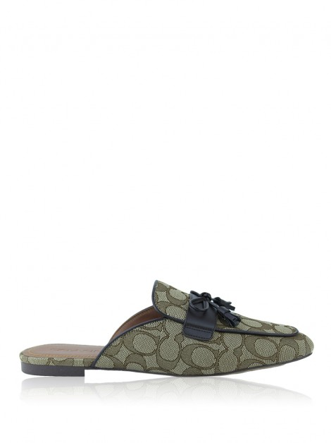 Slippers Coach Signature Stassi Mule Marrom