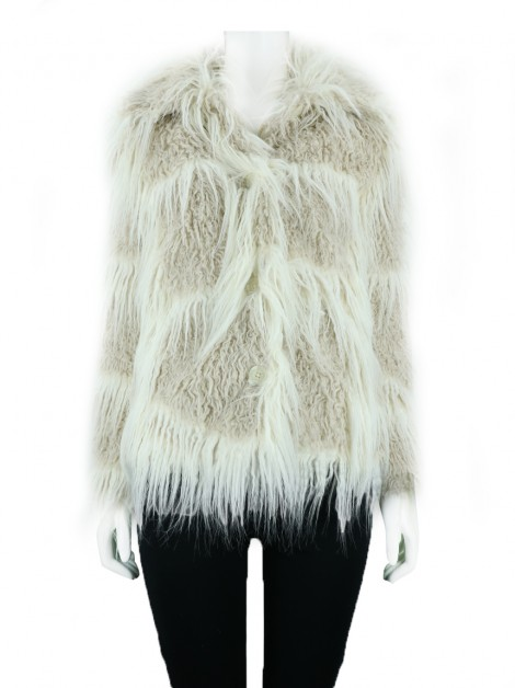 Casaco Animale Fake Fur Bicolor