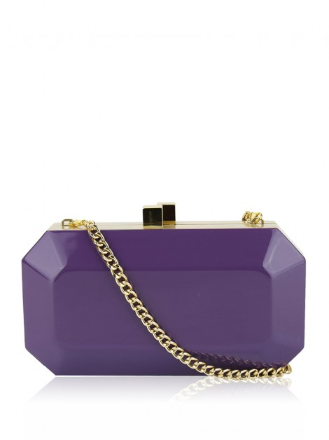 Clutch Serpui Acetato Roxo
