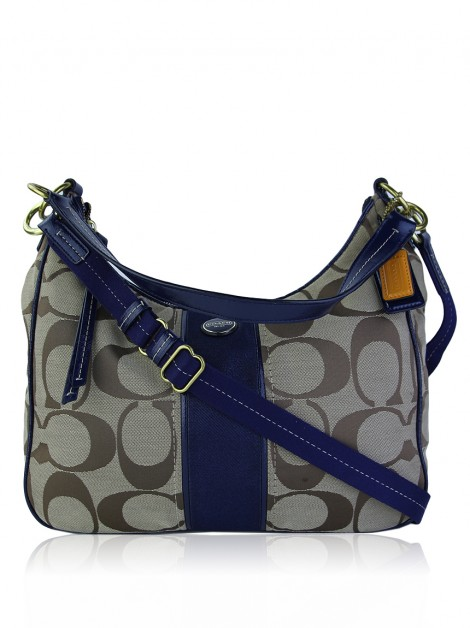 Bolsa Coach Signature Stripe Convertible Hobo