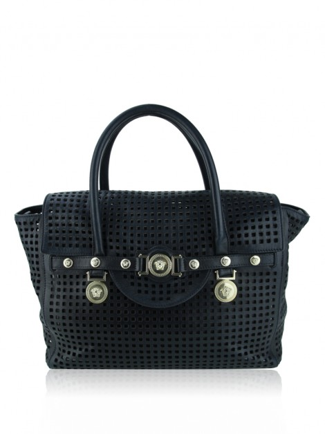 Bolsa Versace Perforated Preto