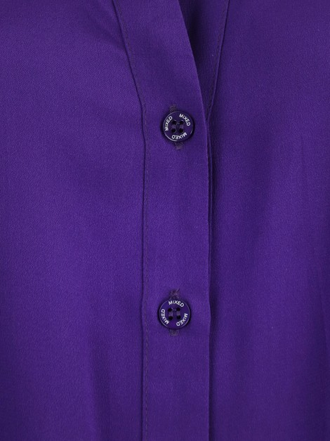 Camisa Mixed Seda Purple