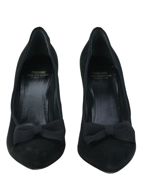 Sapato Moschino Cheap and Chic Bow Preto