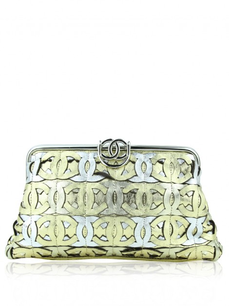 Clutch Chanel CC Mix Crackled Calfskin