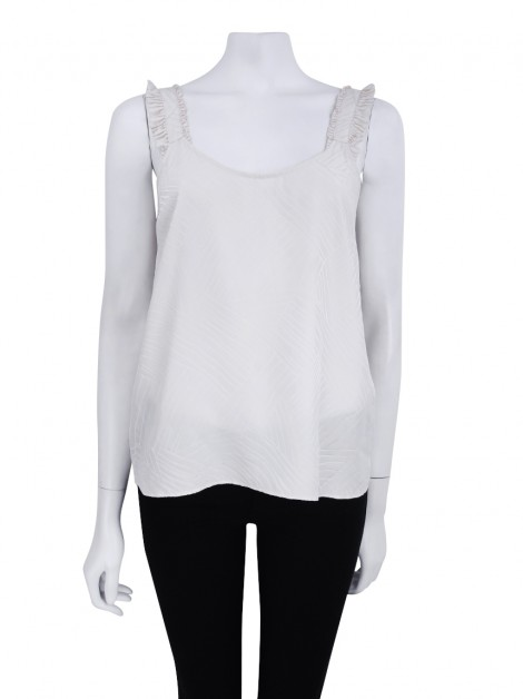Blusa Marc by Marc Jacobs Seda Talc