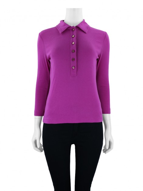 Blusa Tory Burch Polo Rosa