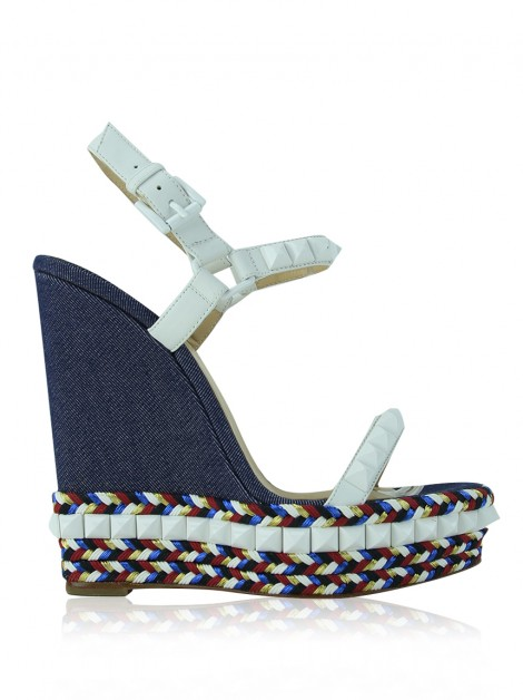 Plataforma Christian Louboutin Studded Cataclou 140mm Denim
