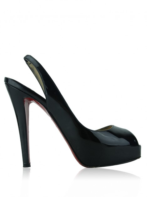 Sapato Christian Louboutin Private Number Verniz Preto