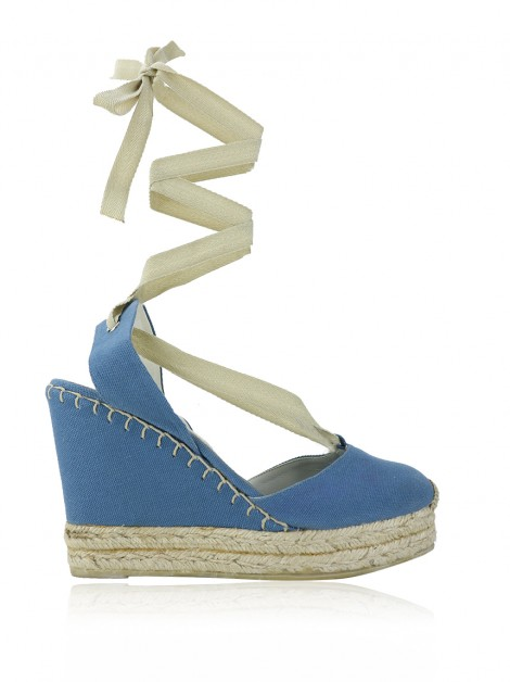Sandália Ralph Lauren Collection Espadrille Azul
