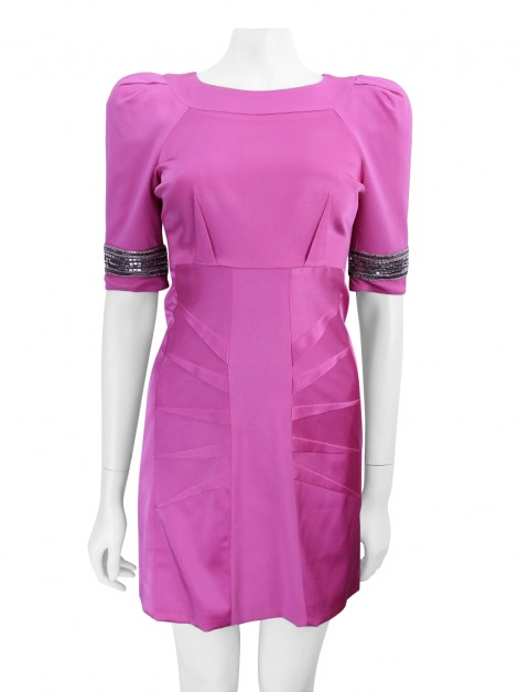 Vestido Matthew Williamson Bordado Rosa