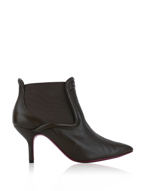 Ankle Boot Zeferino Couro Marrom