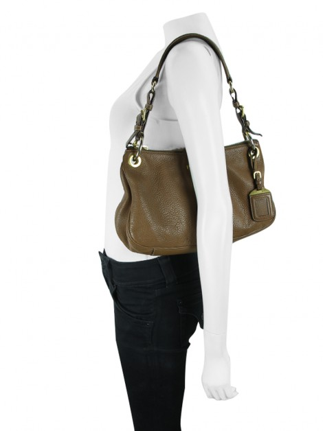 Bolsa Prada Vitello Shoulder Marrom