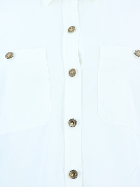 Camisa Seven For All Mankind Tecido Off White