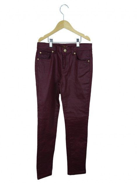 Calça Seven For All Mankind Skinny Bordô