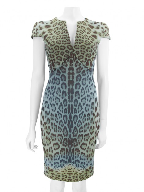 Vestido Just Cavalli Neoprene Animal Print