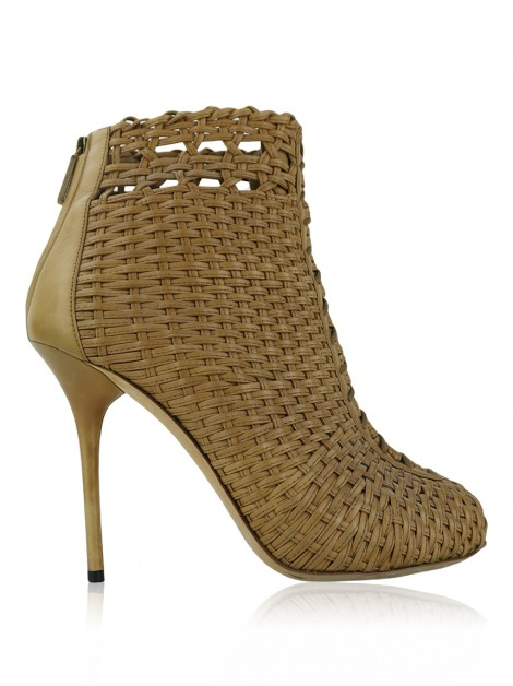 Ankle Boot Gucci Woven Caramelo