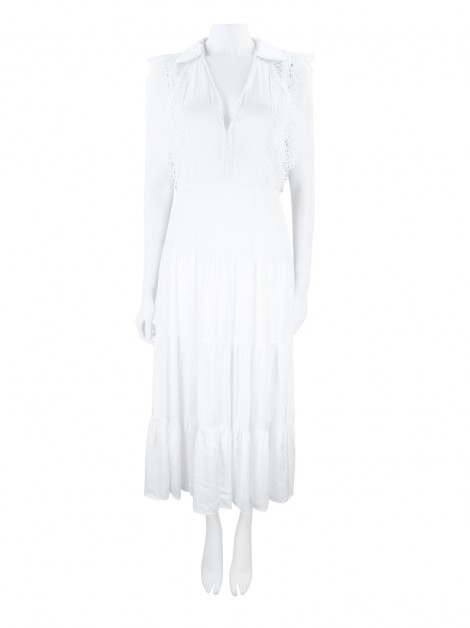 Vestido Sandro Renda Off White