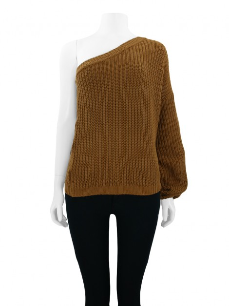 Blusa Mixed Trico Toffee