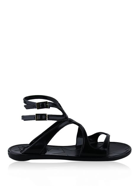 Flat Jimmy Choo Lance Jelly Preto