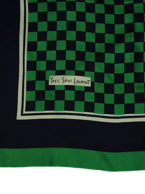 Lenço Yves saint laurent Seda Estampado