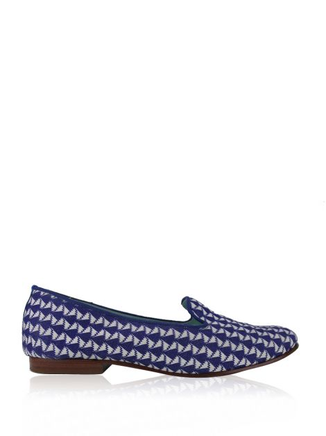 Loafer Blue Bird Estampado Azul e Branco
