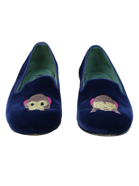 Loafer Blue Bird Monkeys Veludo Azul