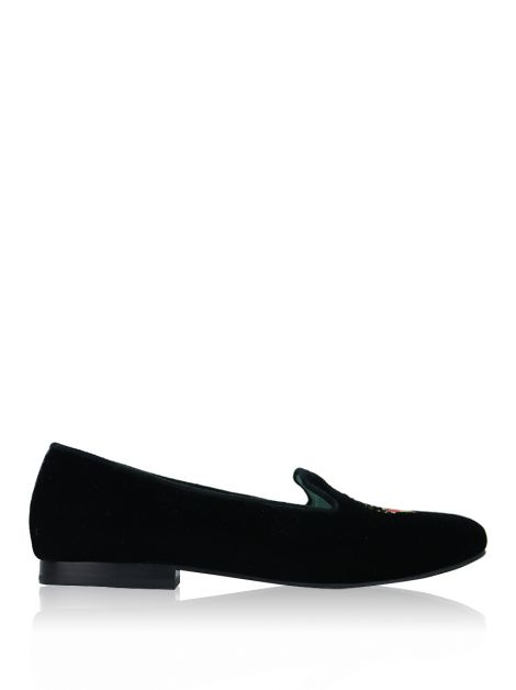 Loafer Blue Bird Veludo Coroa