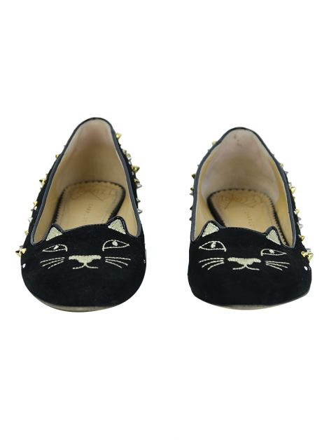 Loafer Charlotte Olympia Kitty Preto Spike