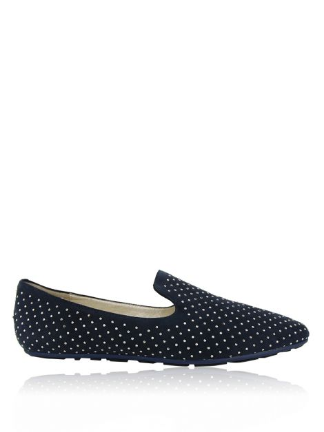 Loafer Jimmy Choo Studded Azul Marinho