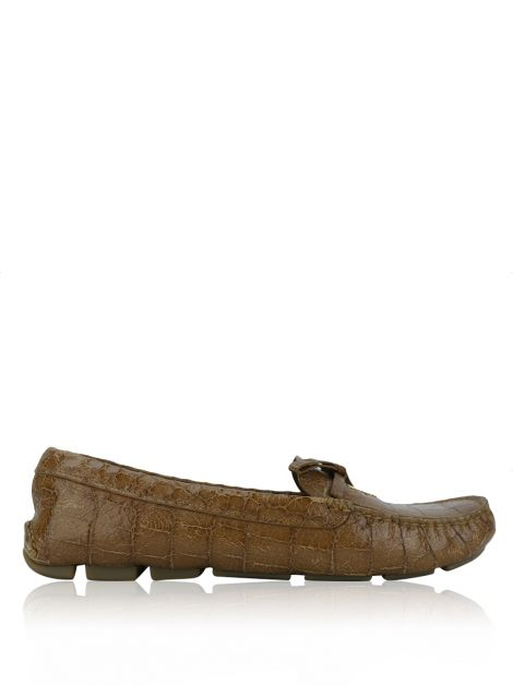 Loafer Prada Embossed Caramelo
