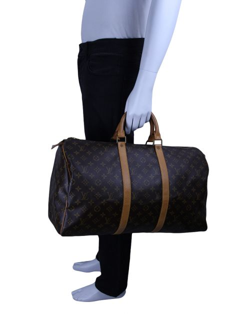 Mala Louis Vuitton Keepall 50 Monograma