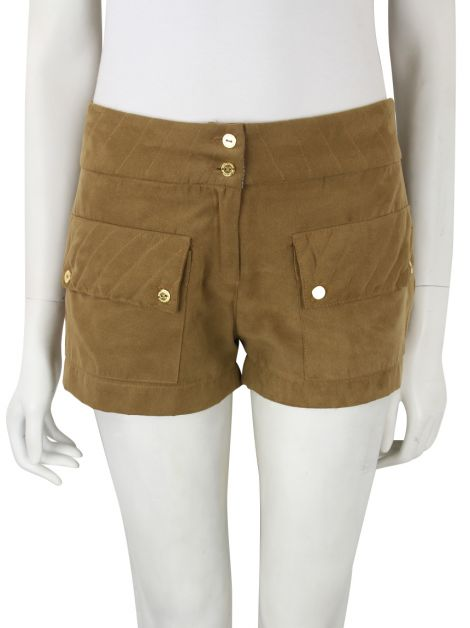 Short Missinclof Tecido Marroom