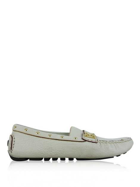 Mocassim Louis Vuitton Couro Off White