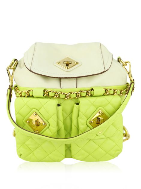 Mochila Moschino Quilted Couro Bicolor