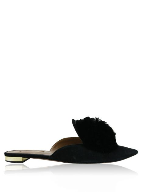 Mule Aquazzura Powder Puff Preto